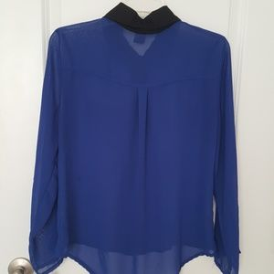 grass collection Tops - Sheer Blue Top